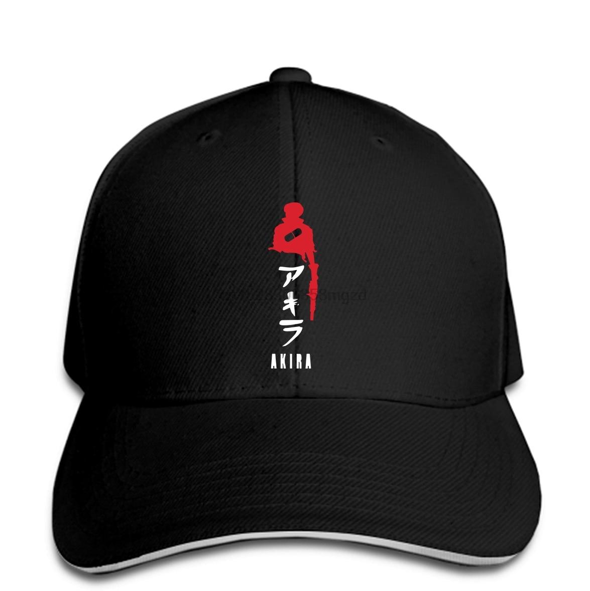 Akira Kaneda rojo y blak art anime manga hombres gorra de béisbol negro gorra Snapback mujeres sombrero pico