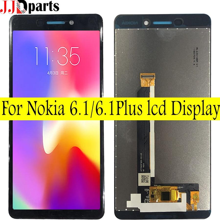 Para Nokia 6,1 Lcd TA-1043 TA-1054 TA-1068 LCD pantalla táctil digitalizador montaje 5,5 pantalla lcd para Nokia x6 6,1 Plus