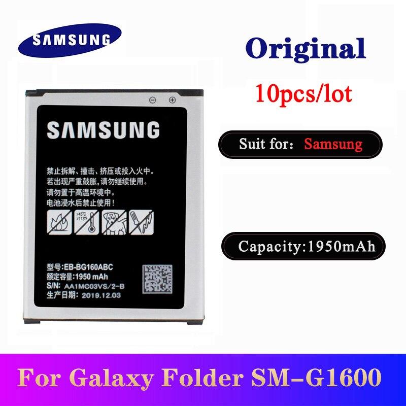 10pcs/lot EB-BG160ABC Original Battery For Samsung Galaxy Folder 2 SM-G1600 SM-G1650W Phone Replacement Batteria 1950mAh