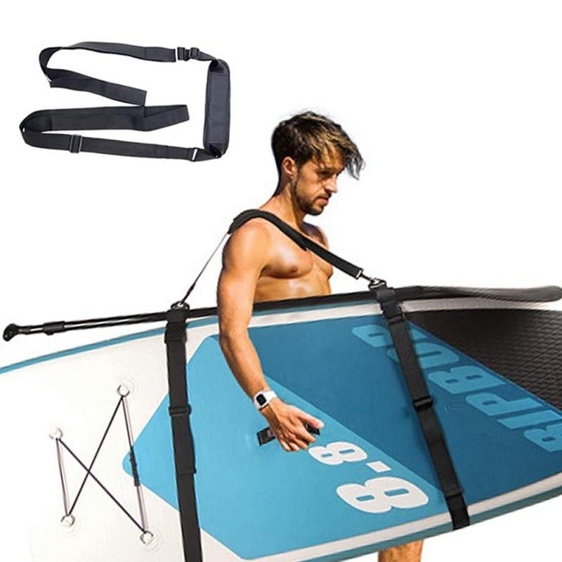 Paddle board cinta portátil ajustável prancha sup caiaques canoa ombro estilingue transportadora cinta surf cinto fixo