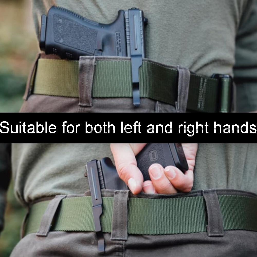 Ocultaram Transportar Cinto Clipe Universal para Pistola Glock Arma de Metal Clipe de Slides Coldre Glock 17 18 19 22 23 24 25 26 27 28 35