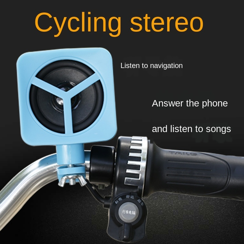 SEMVIS bicicleta montar inalámbrico Bluetooth audio bicicleta altavoz subwoofer mini inalámbrico conveniente al aire libre bicicleta pequeña ESTÉREO