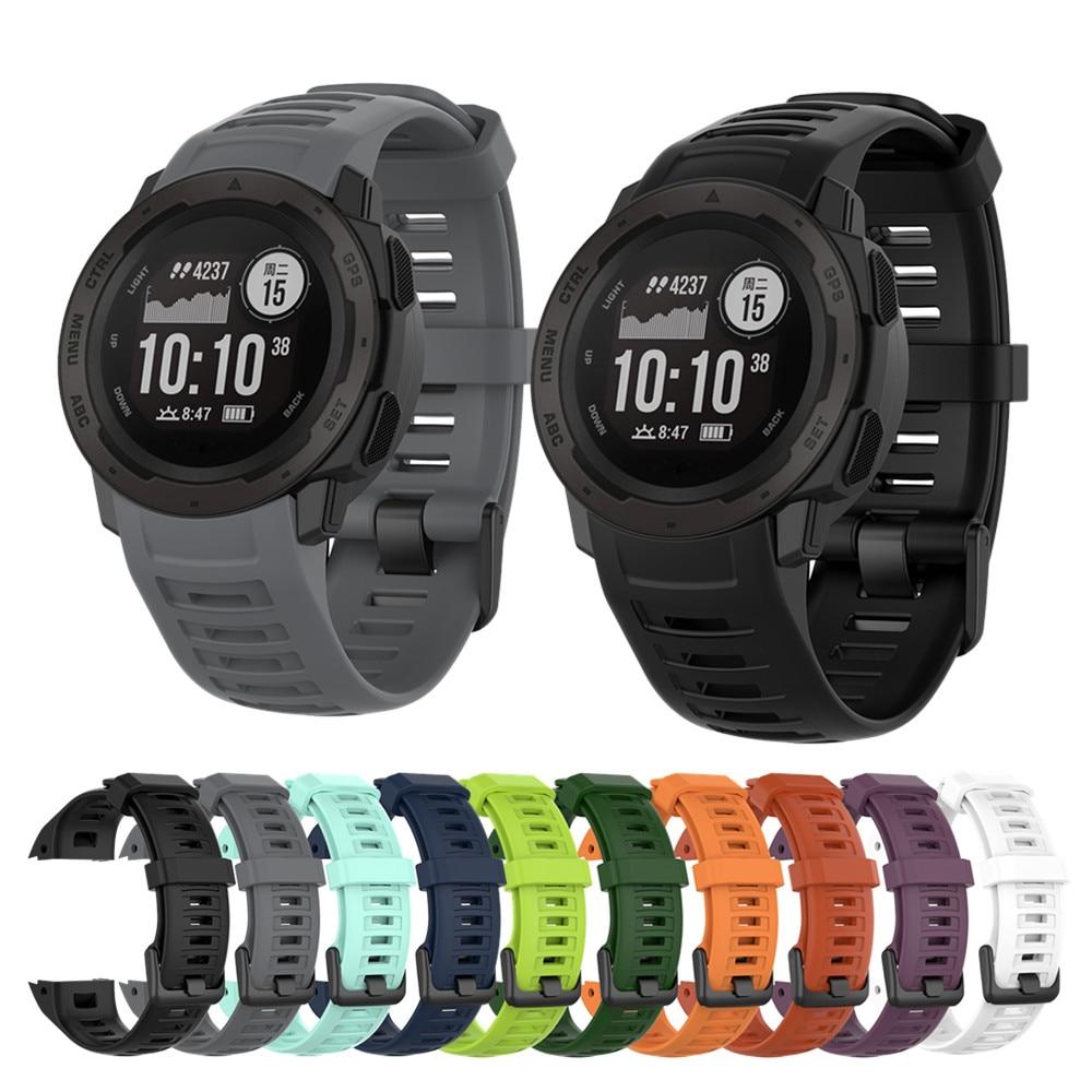 Silicone Wristband For Garmin Instinct Smart Watch Band Strap Replacement Bracelet For Garmin Instin