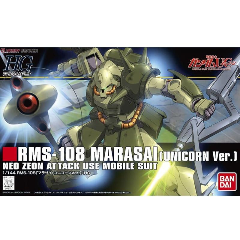 Original Bandai HGUC 138 1/144 Marasai Marasai Gundam Unicorn Edition Assembly Action Figureals Model
