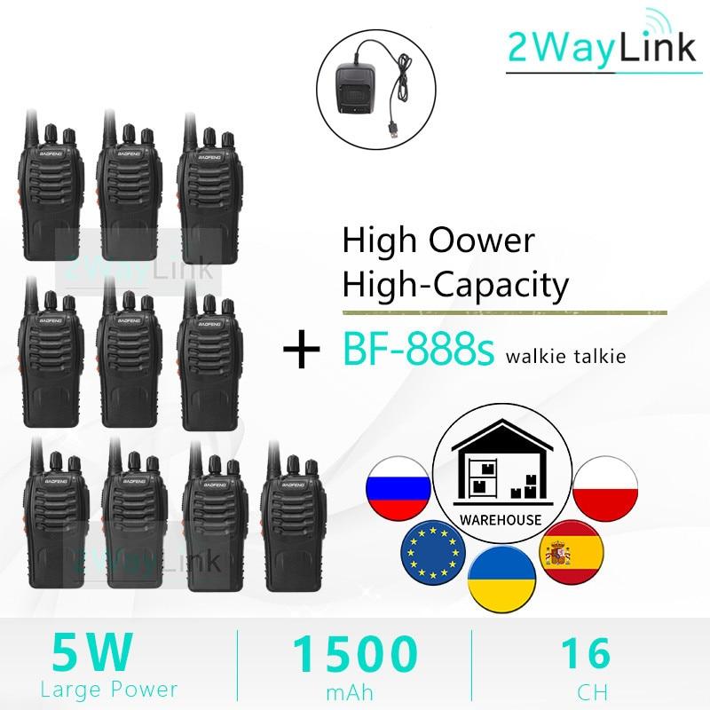 Baofeng BF-888S Walkie Talkie 888s 5W Two Way Radio 400-470MHz UHF BF 888S H777 Cheap Radio Baofeng Ham Radio Stations USB/EU enlarge