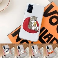 cute cartoon cat phone case transparent for oppo realme find v x q 2 3 5 7 11 50 gt q2 pro plus moible bag