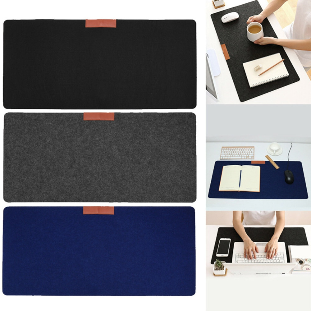 2mm Extended Large Felt Gaming Mouse Pad, 27.56x12.99 inch Non-Slip Accurate Computer Mouse Mat, Desk Pads