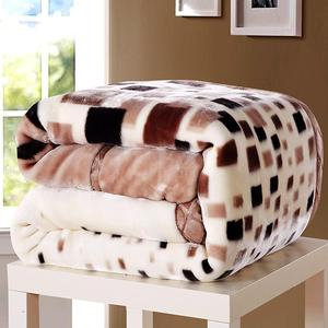 28 2-6 Kilograms Thick Warm Fluffy Super Soft Raschel Blankets Double Layer Winter Mink Throw Fat Quilts Single Double Size
