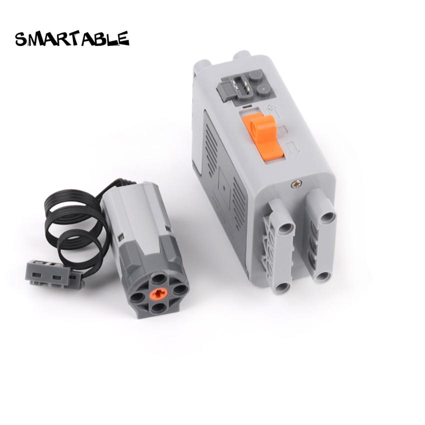 Smartable High-Tech Motor M /L /XL Battery Box Power Building Blocks MOC Part Model Toys For EV3 Compatible 8881/8882/8883/88003