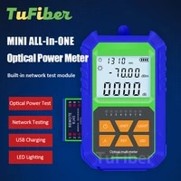 high precision mini optical power meter network cable test lighting optical fiber tester with 7 wavelengths 703 or 5020 dbm