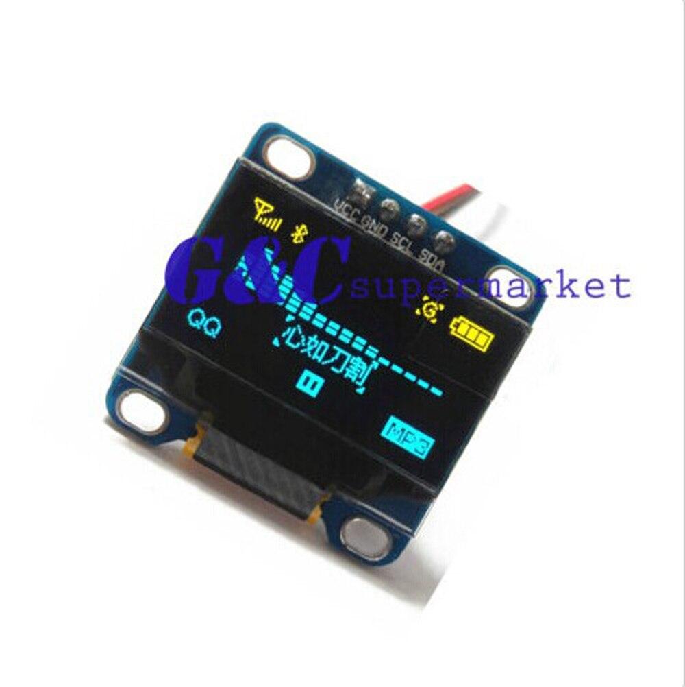 "5 uds. Amarillo azul 0,96 ""IIC I2C 128X64 pantalla OLED módulo STM32 diy electronics"