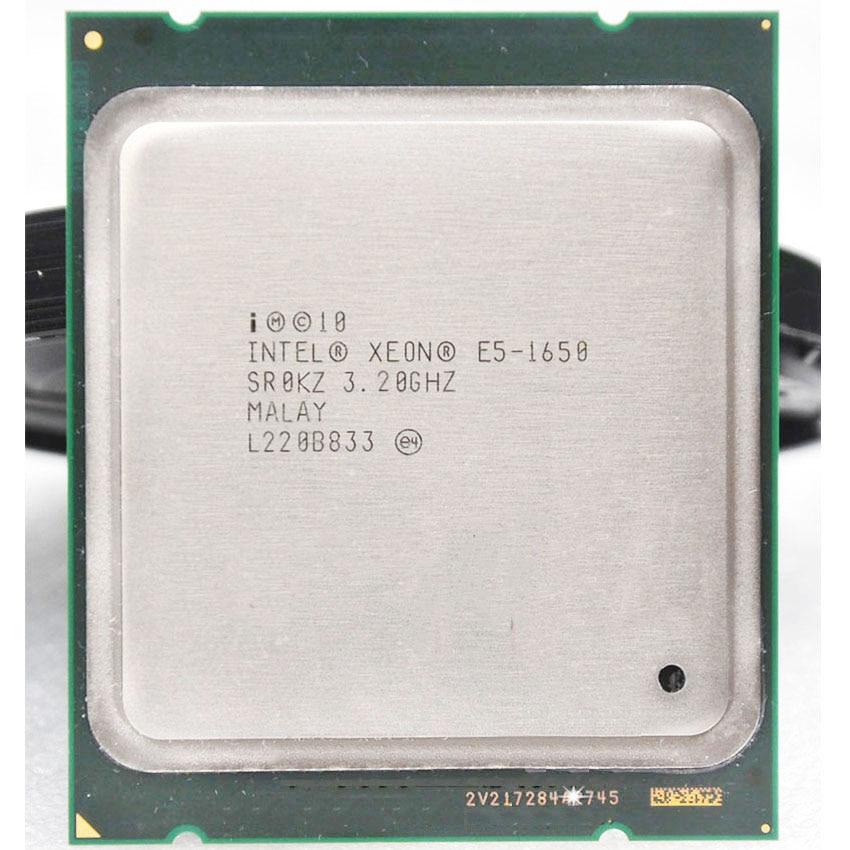 إنتل زيون E5 1650 E5-1650 E51650 3.2GHz 6 النواة 12Mb مخبأ المقبس 2011 وحدة المعالجة المركزية المعالج مناسبة X79 اللوحة