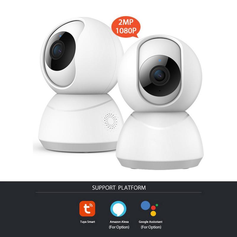 Tuya vida inteligente 720 p 1080 p câmera ip 1 m 2 m sem fio wifi câmera de vigilância de segurança cctv câmera monitor do bebê