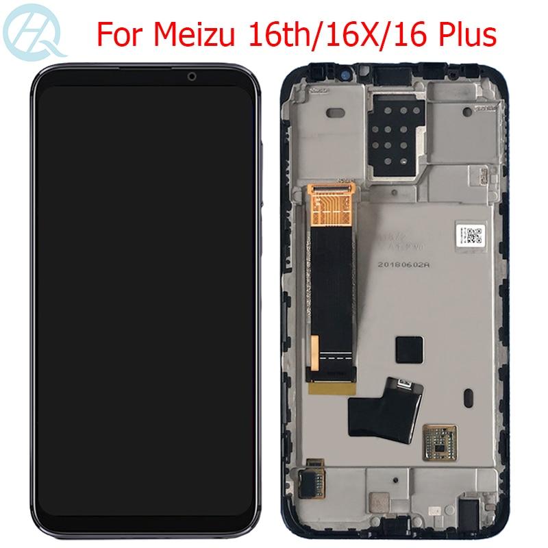 Original 16 Plus LCD For Meizu 16th 16X 16Plus Display With Frame AMOLED 16th 16X M882Q M8821H M872Q M872H LCD Touch Screen