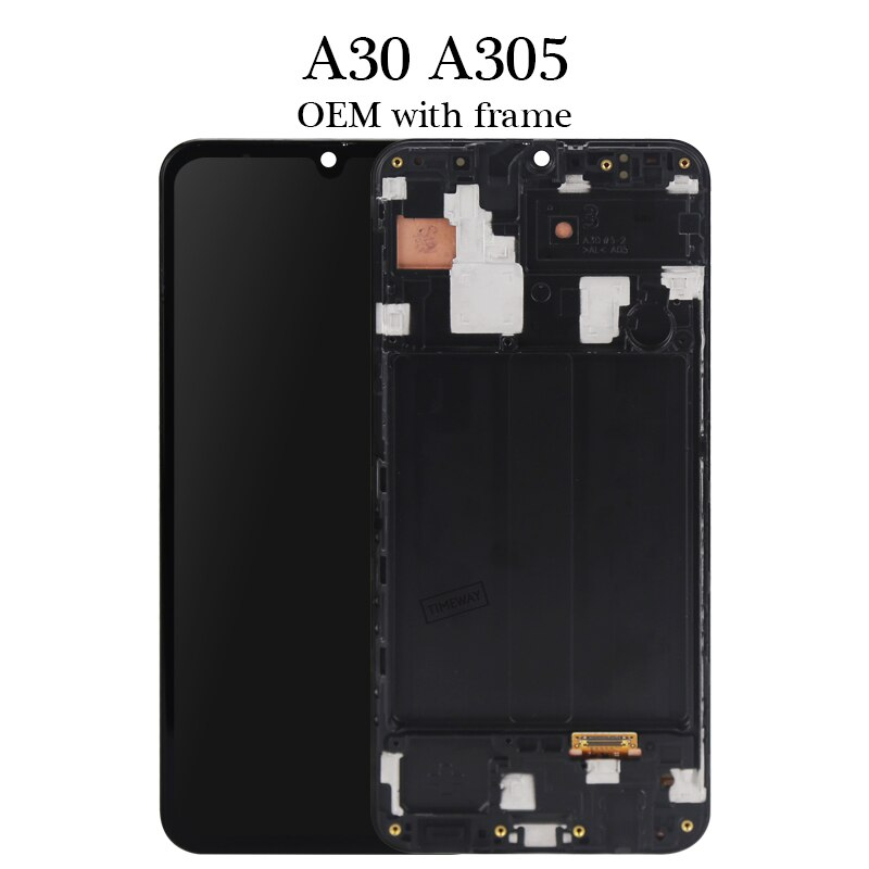 100% test Timeway good quality For A30 A305 lcd display OEM quality no dead pixel For A30 A305 lcd screen assambly replacement enlarge