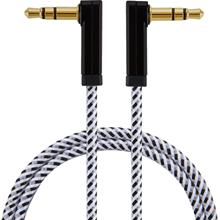 3.5mm Audio Cable 90 Degree Male to Male Auxiliary Aux Cable Compatible with Phone/Tablets/Headphone