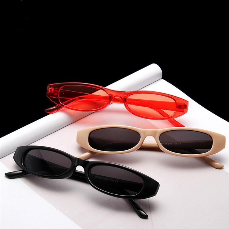 Vintage Rectangle Sunglasses Women Eye Designer Ladies Small Frame Black Red Mini Sun Glasses Brand