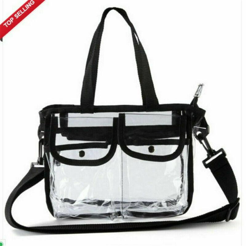 Bolsa de plástico transparente para mujer, bolso transparente con cremallera, bolso de seguridad NFL Stadium, bolsa de reciclaje