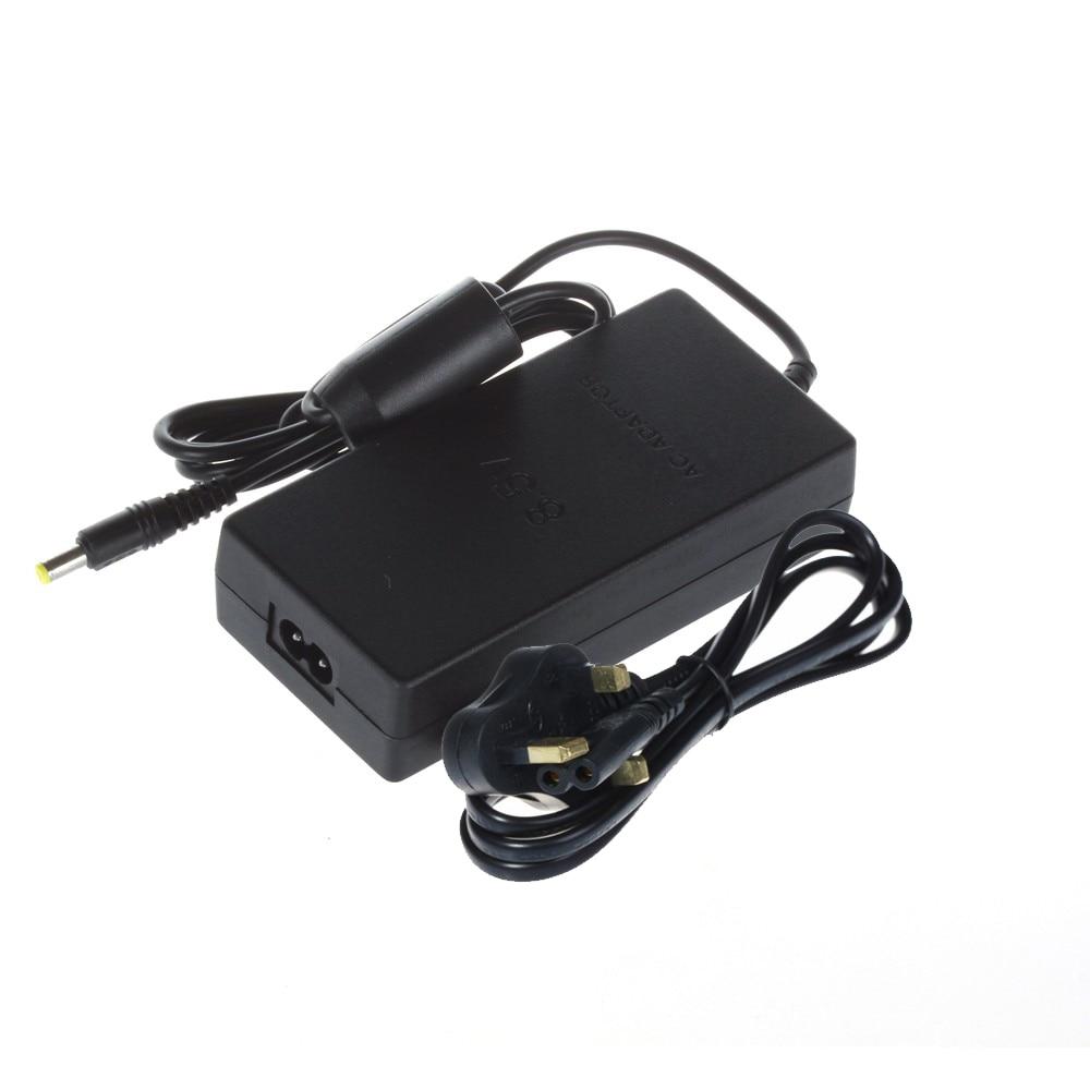10 Uds. EE. UU./UE/REINO UNIDO/AU enchufe adaptador de CA Cable cargador alimentación de Cable para consola PS2 negro Delgado