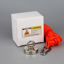 200 кг сильный Неодимовый Постоянный N52 магнит рыболовные магниты дизайн магнит с 20 м веревкой магнитный материал основа в подарок