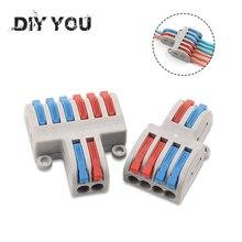 5/10 teile/los SPL-42/62 Mini Schnelle Draht Stecker Universal Verdrahtung Kabel Stecker Push-in Leiter Terminal block DIY SIE
