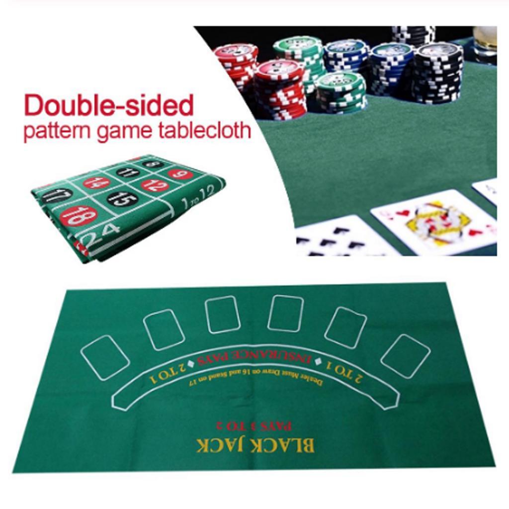 Двусторонний тканевый коврик для игры в рулетку, казино, стол, скатерть, аксессуары для игр, 24X47-1