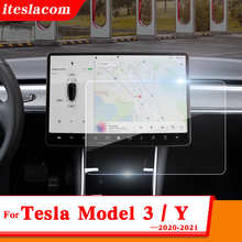 15Inch Model 3 / Y 2021 Car Screen Tempered glass Protector Film For Tesla Model 3 Accessories Navigator Touch Display HD Film