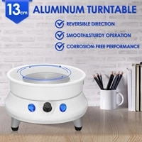 110 220v automatic electric pottery wheel machine ceramic work adjustable speed 13cm turntable circle potters diy clay art craft
