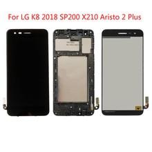 100% testé de haute qualité pour LG K8 2018 SP200 X210 Aristo 2 Plus LCD écran tactile numériseur assemblée noir, non/avec cadre