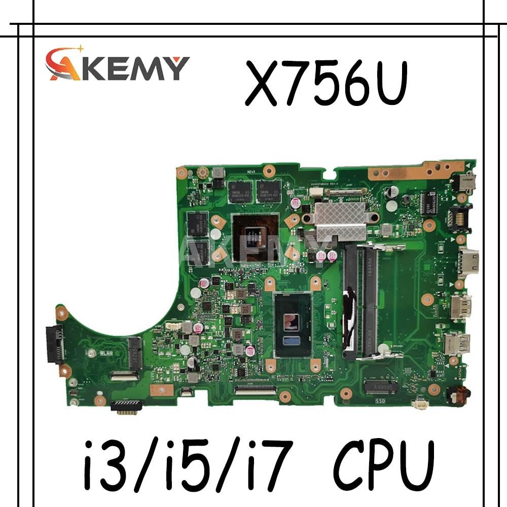 اللوحة الأم للكمبيوتر المحمول ASUS X756UXK X756UX X756UW X756UWK X756UVK X756UQK X756UJ X756UB X756UV X756UVK X756UQ X756UQK
