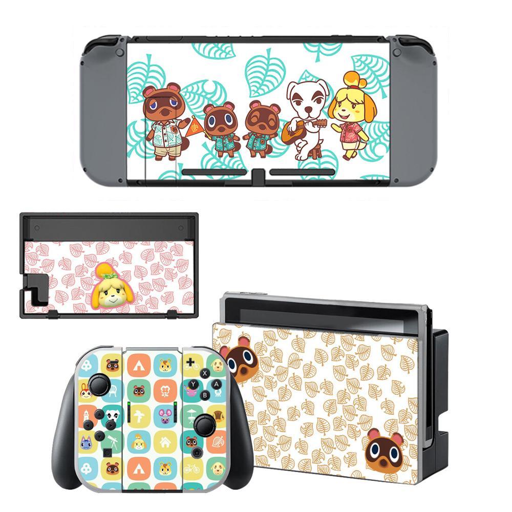 Etiqueta protectora de pantalla para tablero de Nintendo Switch NS, base para cargador, soporte Joycon, controlador adhesivo
