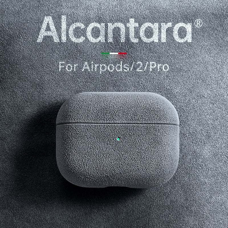 SanCore For Apple Airpods pro case ALCANTARA for AirPods 1/2/3 case Wireless bluetooth headset Mini Shockproof Cover Turn fur