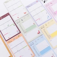 business dailyweeklymonthly planner diy note book paper tearable notepad person management schedule memo pad office stationery