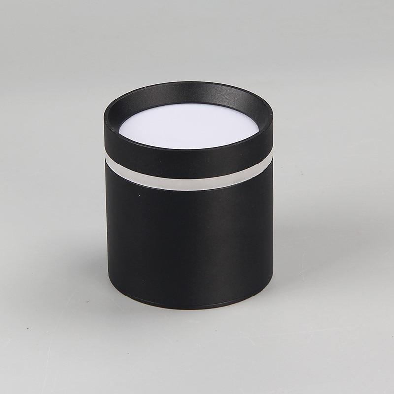 1 pçs pode ser escurecido superfície montado teto downlight 7w 10w12w AC85-265V cob lâmpada led downlights luz do ponto de teto + led driver