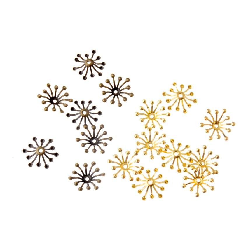 Envío Gratis, 100 Uds. DIY, envolturas de filigrana para flores, conectores de joyería para el cabello, accesorios decorativos de moda antigua 15*13mm