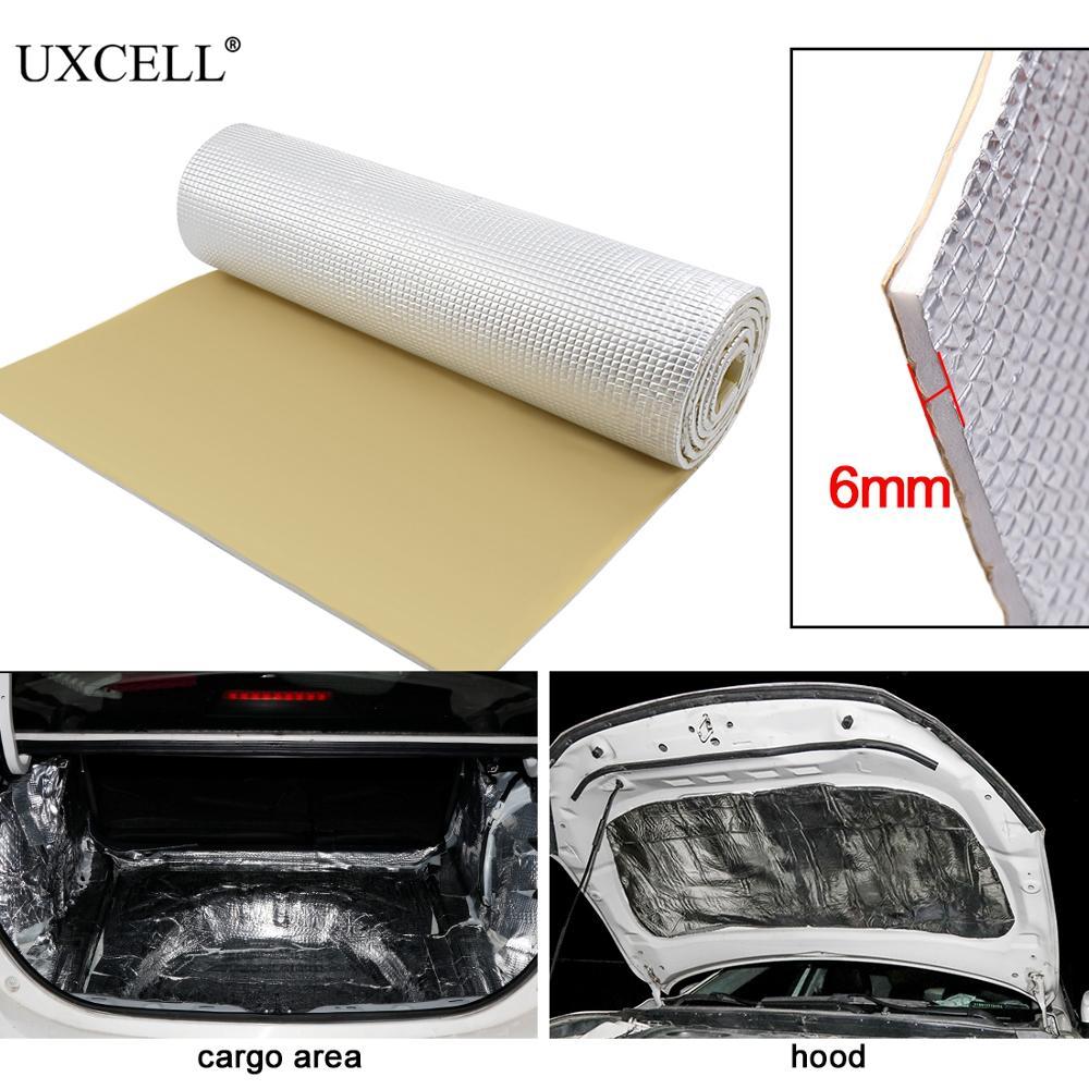 UXCELL 6mm 236mil Thick Alumina fiber+ Muffler cotton Car Auto Indoor Heat Sound Deadening Insulation Soundproof Dampening Mat