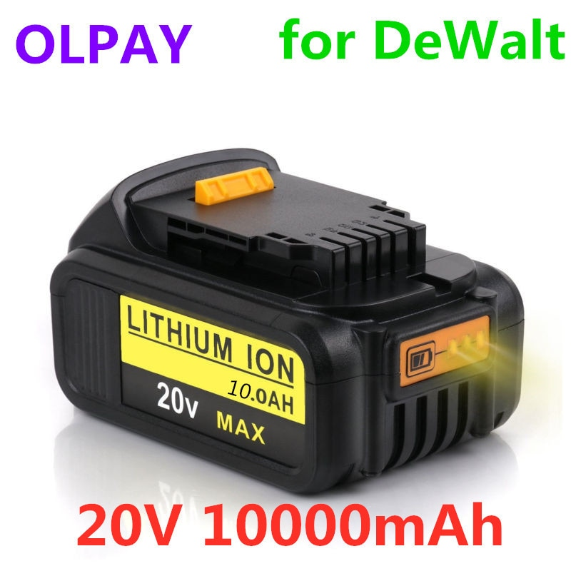 20V 10000mah for Dewalt DCB200 Rechargeable Li-ion Battery 20V MAX Replacement for DeWalt DCB205 DCB201 DCB203 Power