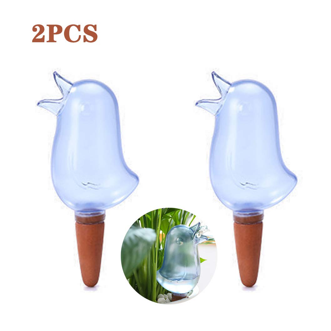 2pcs Garden Automatic Watering Tool Cute Birds Indoor Drip Irrigation Watering System Kit Potted Plant Waterers Spike Mini