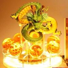 Dragon Ball Z Figurines Shenron Dragonball Z Chiffres Ensemble Esferas Del Dragon + 7 pièces 3.5cm Boules + base à LED Figuras DBZ Jouets
