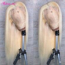 Perruque Lace Front Wig brésilienne Non Remy lisse-Jazz Star   Blond 613, 13x4, pre-plucked, pour femmes africaines