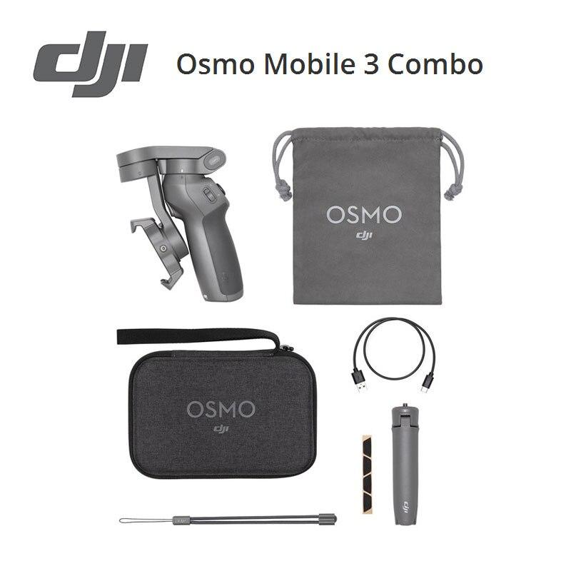 DJI Osmo Mobile 3 combo foldable design ActiveTrack 3.0 Gesture Control New Gimbal Ergonomic Grip Intelligent Features in stock