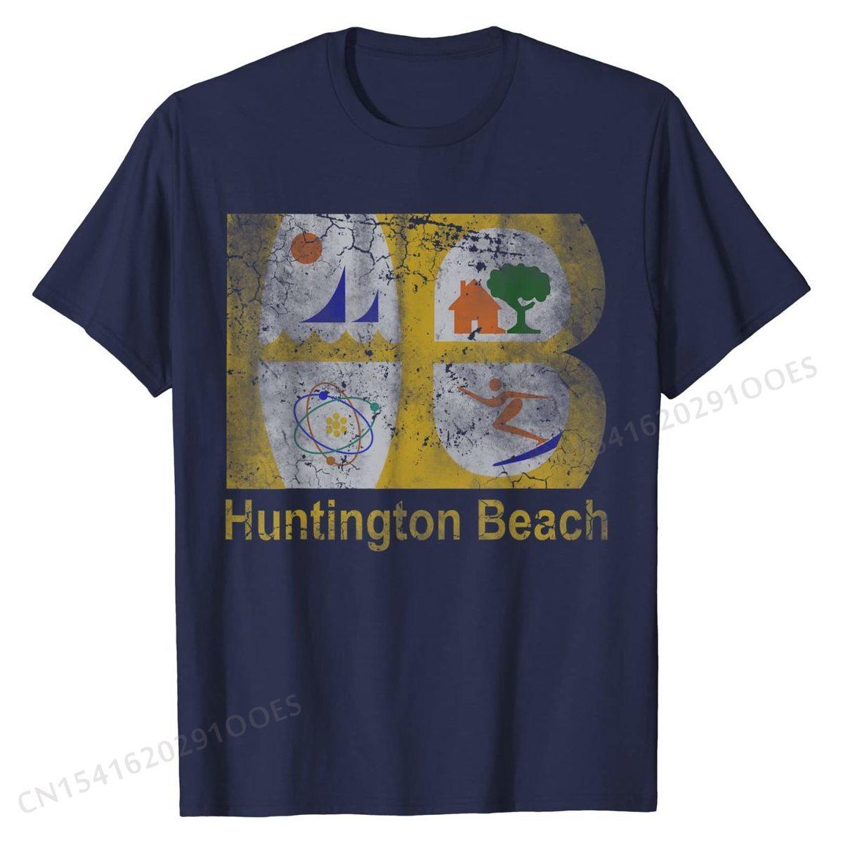 Huntington Beach bandera California Casa Amor familia camiseta vacaciones T camisa divertido...