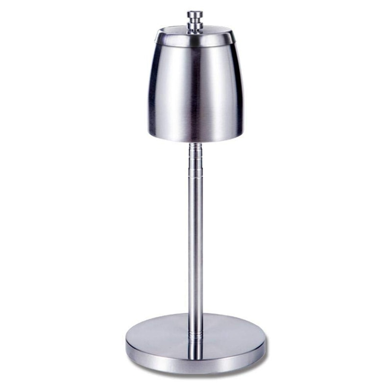 Floor Standing Ashtray, Telescopic Stainless Steel Windproof Ashtray with Lid, Large Portable Unbreakable Ashtray for Home Offic