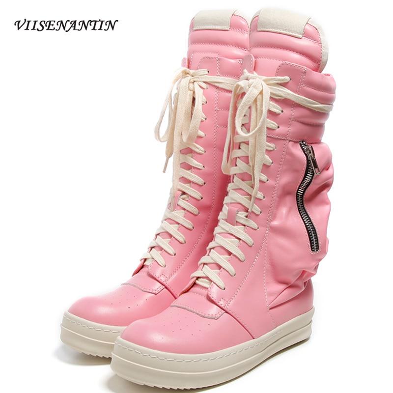 شتاء جديد نمط جلد طبيعي أسود العصرية الرياضة مارتن الأحذية محفظة جيب زوجين شخصية السببية منتصف أنبوب الأحذية