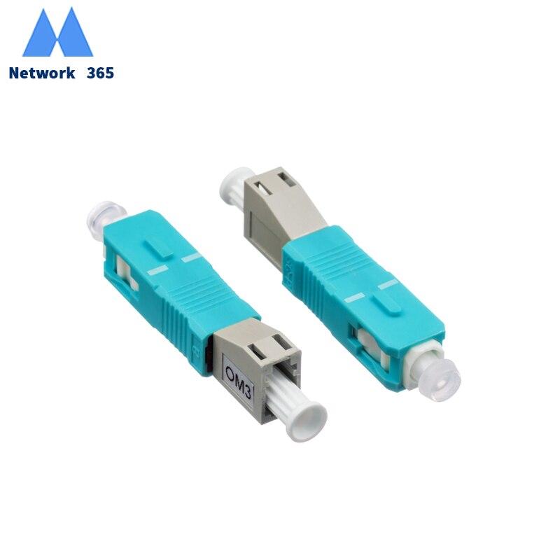 Kostenloser Versand 2 teile/los LC/UPC Weibliche zu SC UPC Männlichen Fiber Optic Adapter MultimodeOM3 FC-SC Faser Optische Adapter
