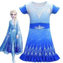 Filles robes pour Anna Elsa enfants robe reine des neiges fille fête danniversaire Vestidos enfants princesse robe de bal adolescent Cosplay robe