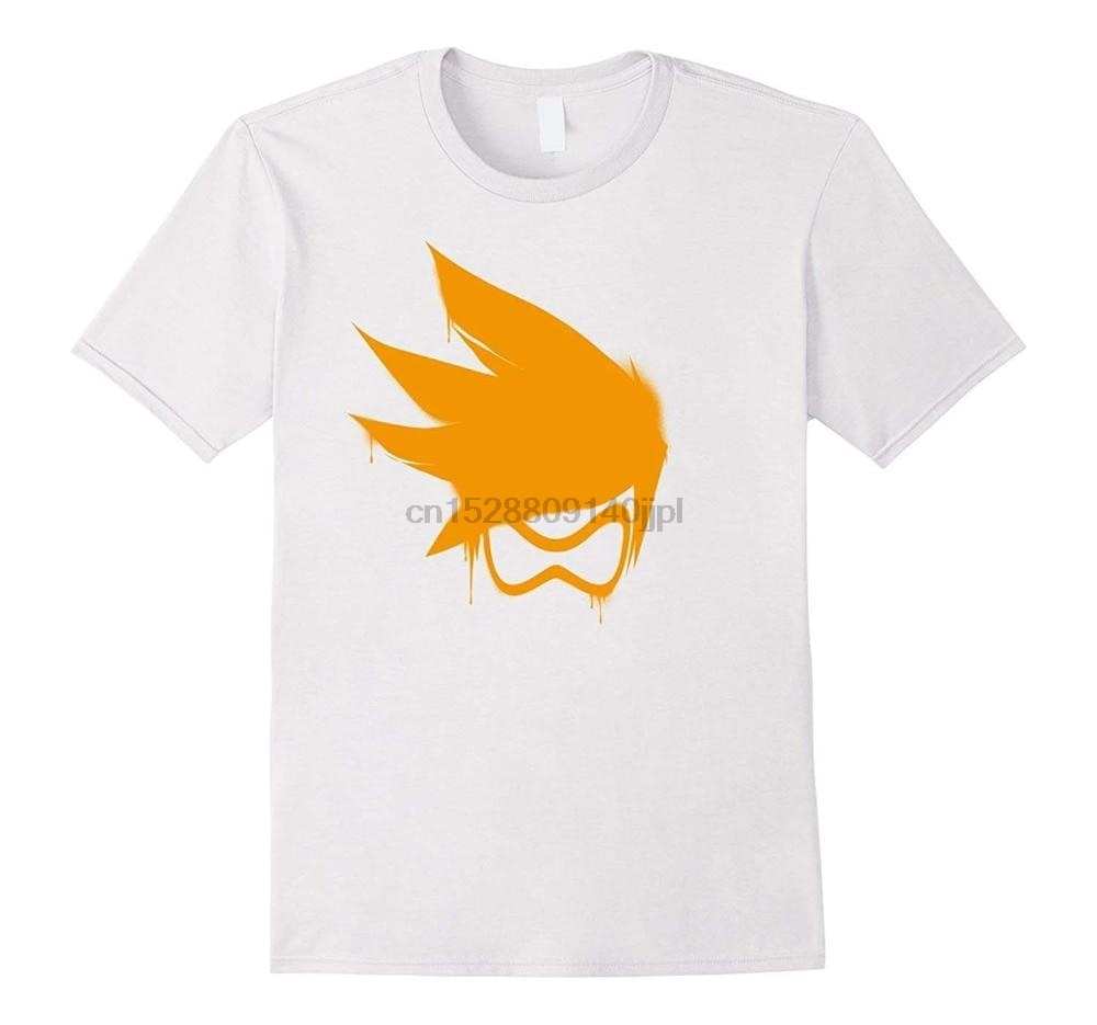 Diy camiseta con jugador trazador ow naranja Spray camiseta algodón para hombre Camiseta blanco negro S M L Xl Xxl Xxxl