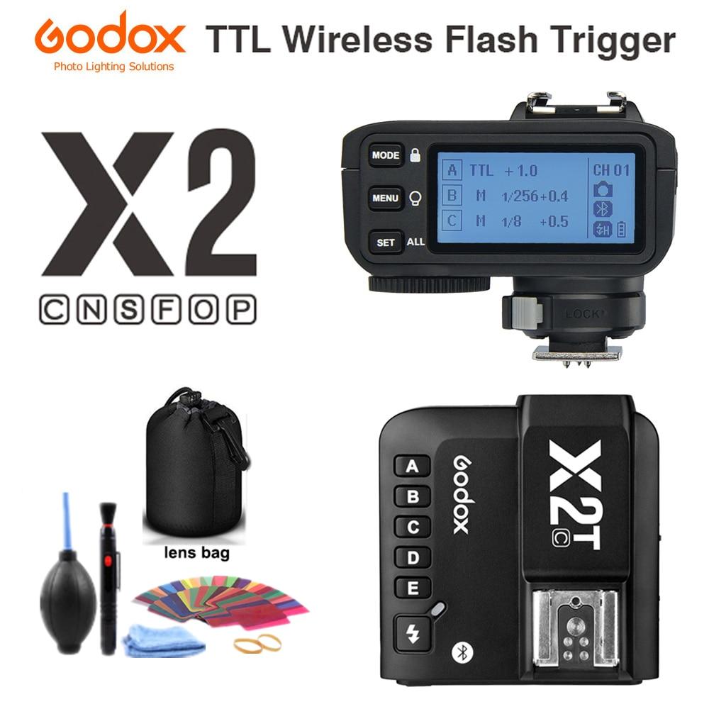 Godox X2T-C X2T-N X2T-S X2T-F X2T-O X2T-P TTL 1/8000s HSS disparador de Flash inalámbrico para Canon Nikon Sony fuji Olympus Pentax