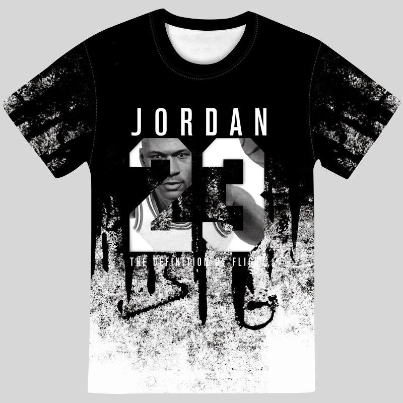 Nuevo verano hombre caliente es Jordan 23 3D T camisas hombres camuflaje...