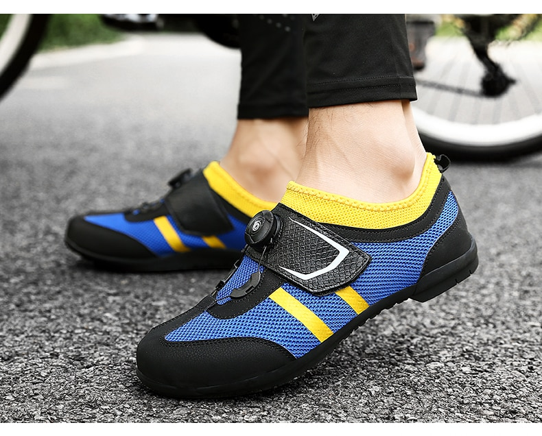 Road Cycling Shoes Men sneakers sapatilha ciclismo Non-Locking Pro Team Mountain Bike Rubber Breathable Bicycle Unlocked Shoes